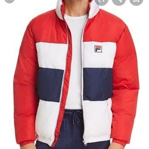 Fila neo color block windbreaker puffer jacket